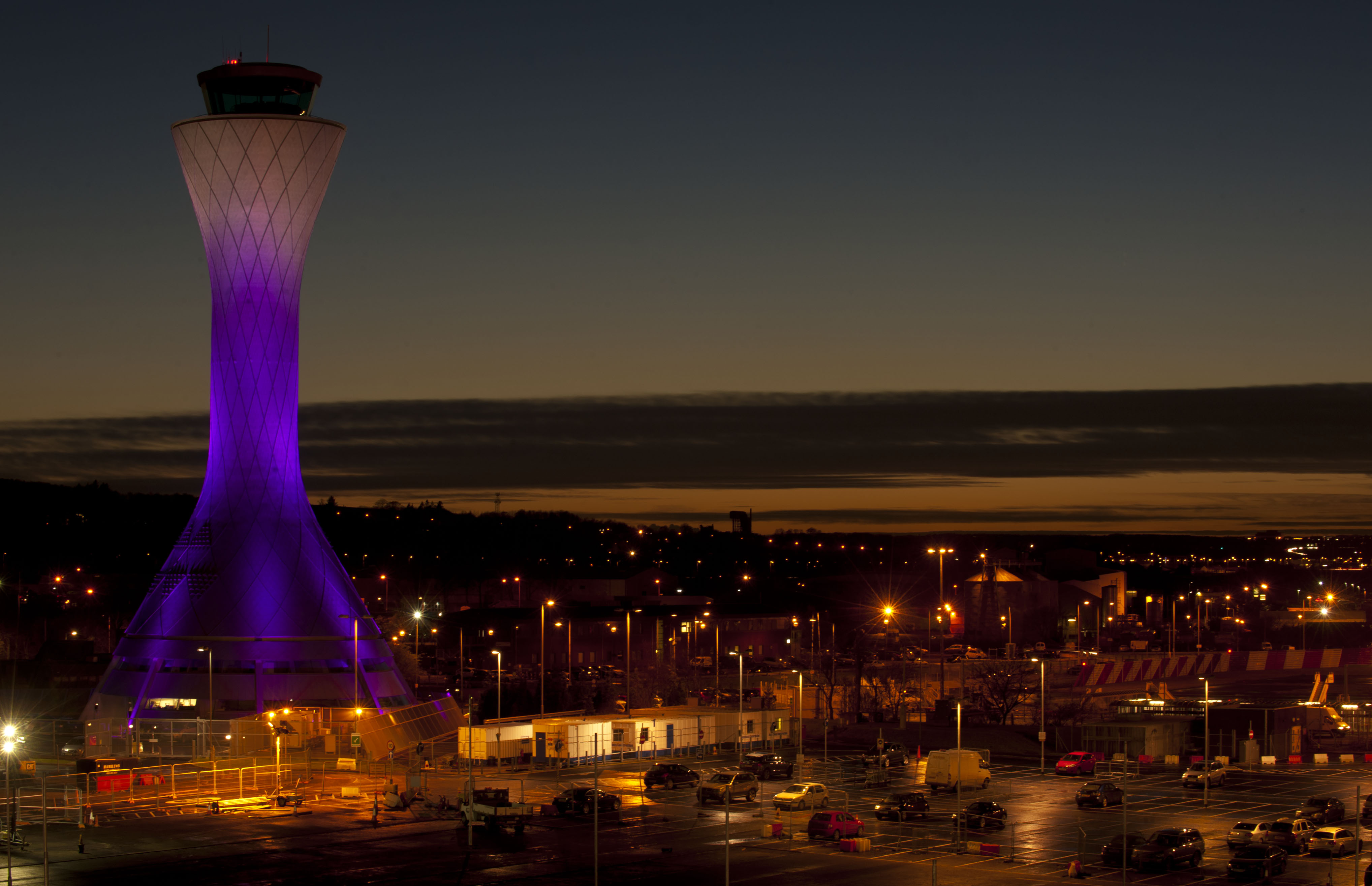 EDINBURGH AIRPORT PINK TOWER
